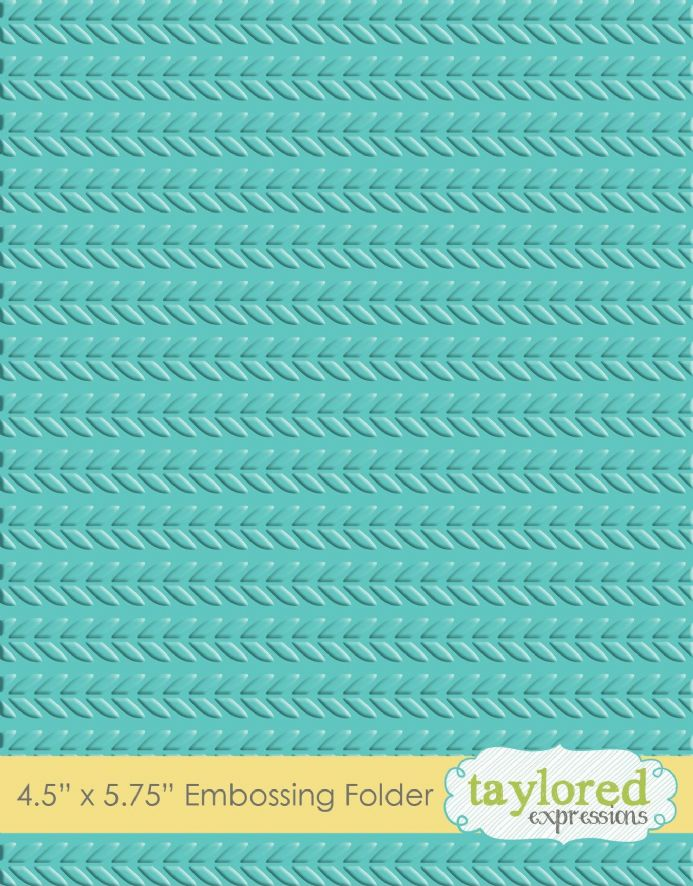 TEEF21 ~ CABLE KNIT ~ Embossing folder ~ Taylored Expressions